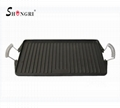 SR080 Cast Iron BBQ Cookware Round Grill Plate Outdoor Cooking 6
