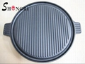 SR080 Cast Iron BBQ Cookware Round Grill Plate Outdoor Cooking 10