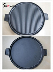 Cast Iron Cookware BBQ Grill Outdoor Sillet Plate Outdoor Cookware