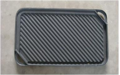 BBQ Cookware Outdoor Cast Iron Grill Plate Square Grilldle 4