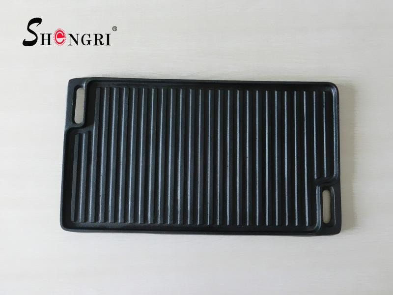BBQ Cookware Outdoor Cast Iron Grill Plate Square Grilldle 7