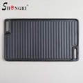 BBQ Cookware Outdoor Cast Iron Grill Plate Square Grilldle 8