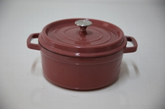Wholesale factory Enameled cast iron dutch oven steamer pot cast iron casserole