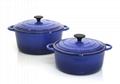 Wholesale factory Enameled cast iron dutch oven steamer pot cast iron casserole