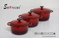 Enamel cast iron oven casserole