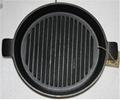 Sartén pre-sazonada con manijas para orejas Utensilios de cocina hierro fundido