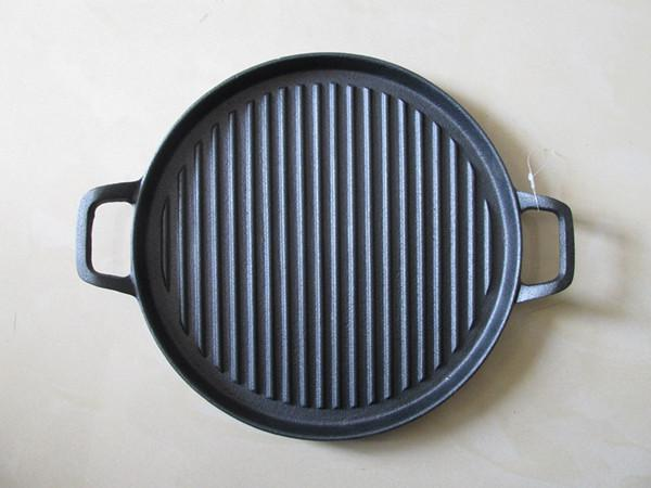 Cast iron grill pan with two handles 2