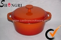 Cast Iron Enamel  Cookware Sets For Kitchen Ware