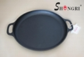 Big Round Cast Iron Pre-seasoned Pan Pizza Griddle