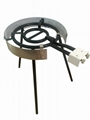 Ring Gas Burner Camping Utensils Enamel Coated with Windshield