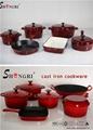 Cast iron Enamel fry pan