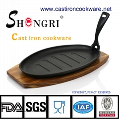 Cast iron steak pan