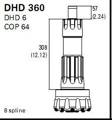 DHD360 COP 64 DTH Hammer Bits