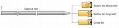 tapered drill bit button bits - rock drilling tools - conical button bit - rock drill taper button bit