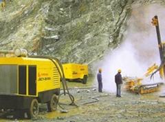 Screw air compressors, Rock drills, Drilling rig