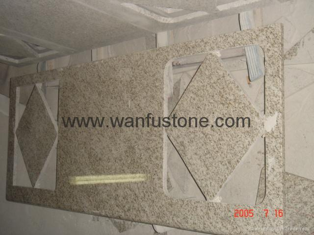 Granite Kitchen Countertops for prefab and customized 1