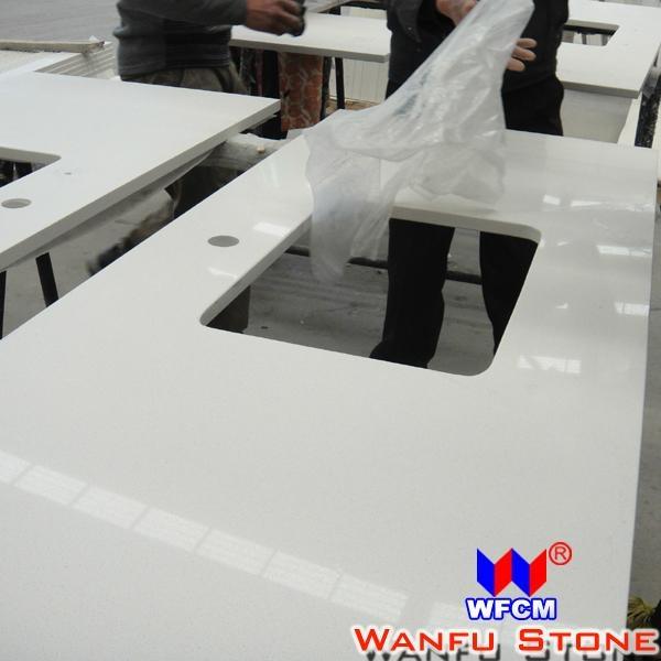 White Quartz Kitchen Countertop 5