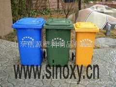 山東信源供德州聊城濱州240升塑料垃圾桶價格優