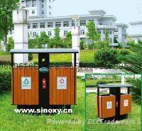 山東鋼木分類垃圾桶生產廠家