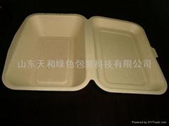 外卖专用600ml纸浆餐盒