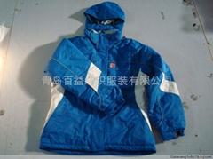 全壓膠條超強防水滑雪服防寒服