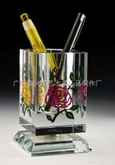 广州水晶笔筒