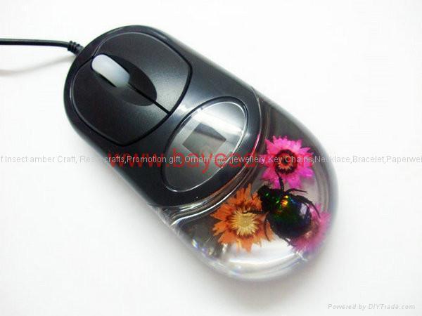 昆虫琥珀光电鼠标礼品 2