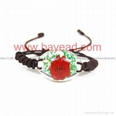 Real Flower Amber Bracelet Fashional Jewellery birthday gift
