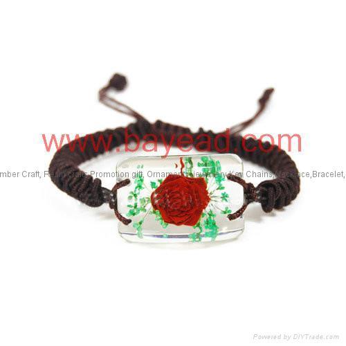 Real Flower Amber Bracelet Fashional Jewellery birthday gift 2