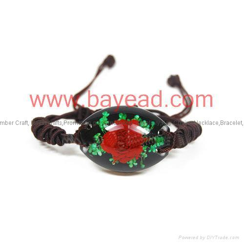 Real Flower Amber Bracelet Fashional Jewellery birthday gift 3