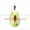 Real Insect Amber Necklace Fashional Jewelry for Valentines Gift 4