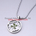 4 leaf Lucky Clover Necklace Shamrock jewelry Valentines Gift 4