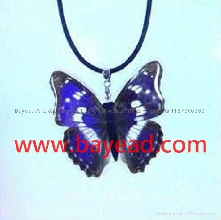 Real butterfly Necklace Fashional Jewelry Valentines Gift Girl's Gift 2