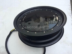 New Design 13inch 4000w Single Shaft Hub Motor with dismounable rim