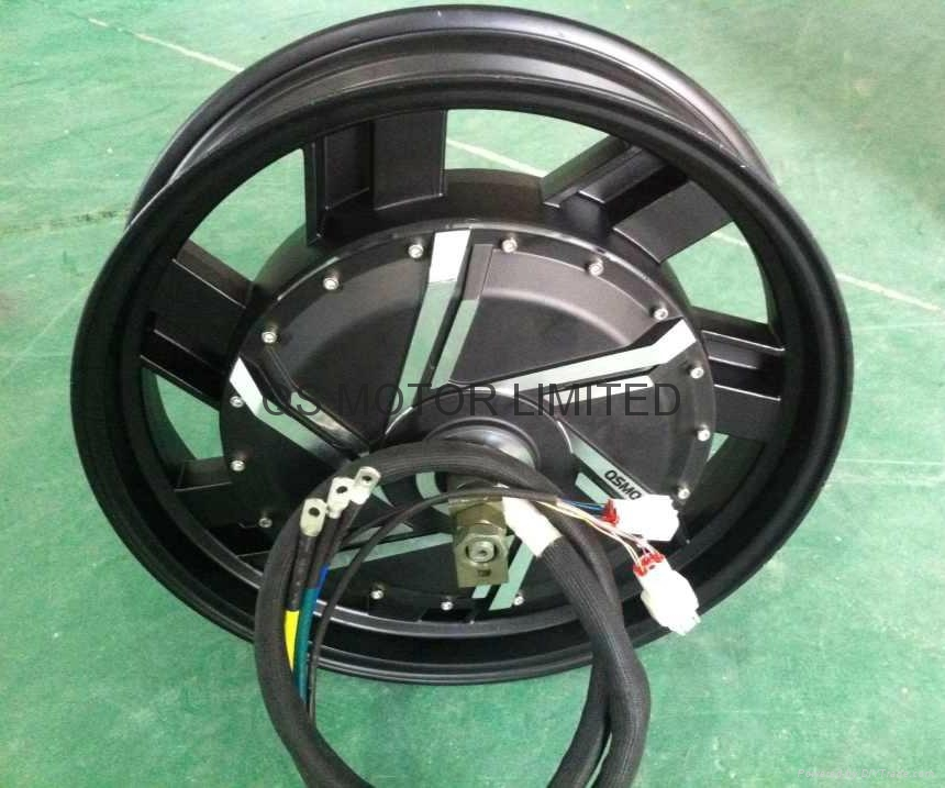 6000w 17inch In Wheel Hub Motor For Electric Motorcycle