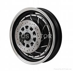 4000W 14inch In-Wheel hub Motor for E-Motorcycle