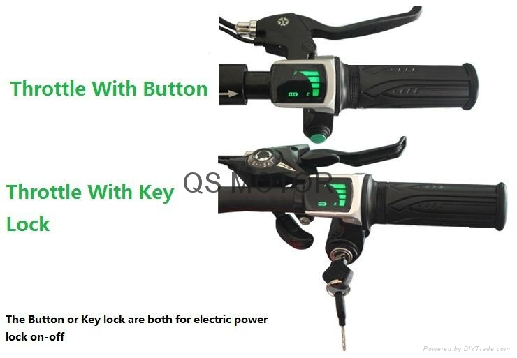 Electric Bicycle Twist Throttle LED Battery indicator and Key Switch