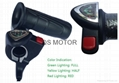 Electric Bicycle Twist Throttle with battery power indicator