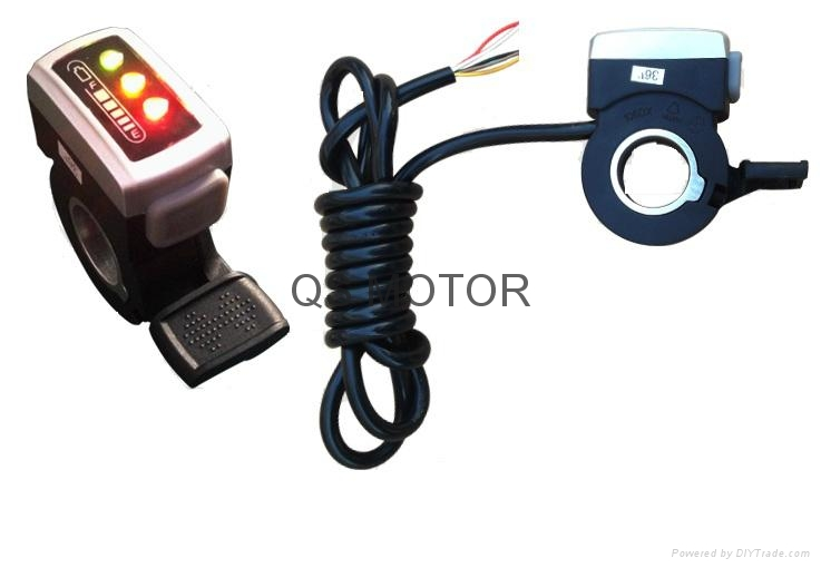 Electric Bicycle ThumbThrottle with battery power indicator