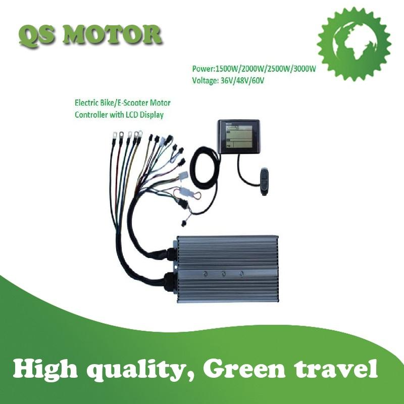 2000W 48V/60V Motor Controller with LCD Speed Meter Monitor for Electric Bike