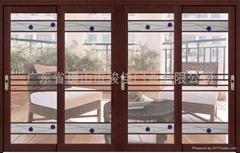 鈦鎂鋁合金75系列豪華吊趟門
