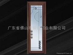 鈦鎂鋁合金圓弧系列豪華平開門