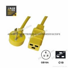 GB16A-C19 服務器 路由器UPS PDU彩色電源線