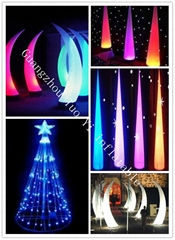 inflatable lighting decoration tusk for wedding and party