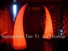 3mh Lighting Inflatable Tusk For Wedding Decoration