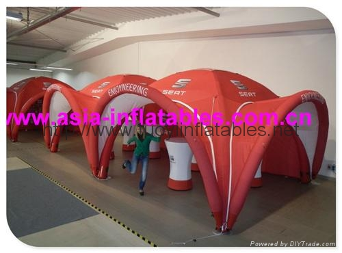 Branded Inflatable X Arch Gloo Tent For Trade Show , Trade Show Tent 2