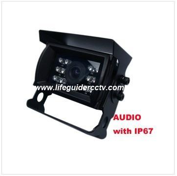 600TVL car rear-view Camera with Audio, IP 67 waterproof  1