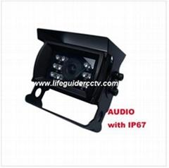 600TVL car rear-view Camera with Audio, IP 67 waterproof