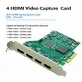 PCI-E4h HDMI Video Conference Capture Card 1080P/60 Vmix / Xsplit / Vlc