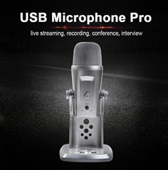 USB interface Record Music For Computer Live streaming conference Microphone pro